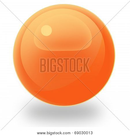 Orange glass orb