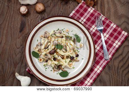 Wild Mushrooms Pasta