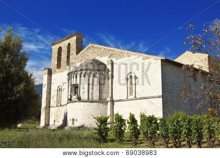 San Clemente abbey, apse exterior, Abruzzo region, Italy