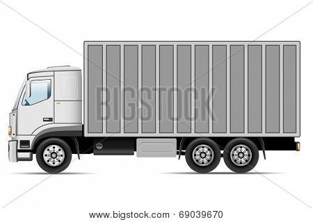 Truck isolated on white background. Vector illustration.