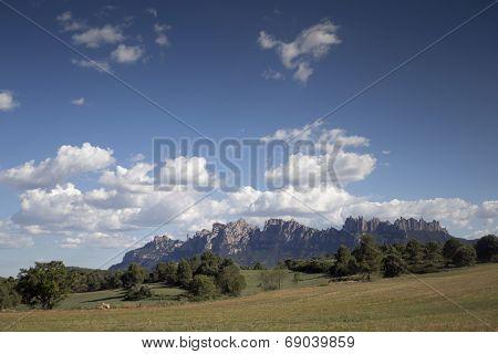 Montserrat Mountain Range In Barcelona