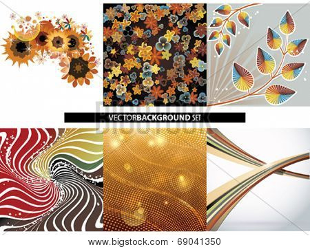 Vector Backgrounds set