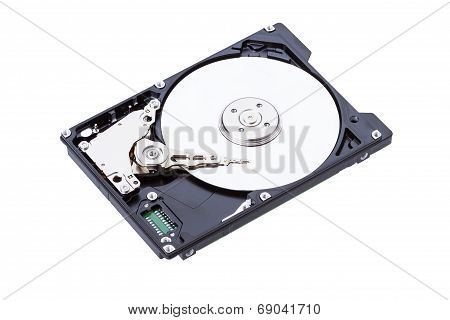 Harddisk Drive (hdd) With Top Cover Open Isolated On White