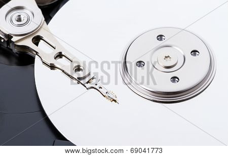 Harddisk Drive (hdd) With Top Cover Open Closeup