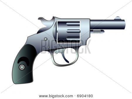 Revolver - Colt - Vector