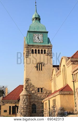 bell tower of Lutheran Church in Qingdao