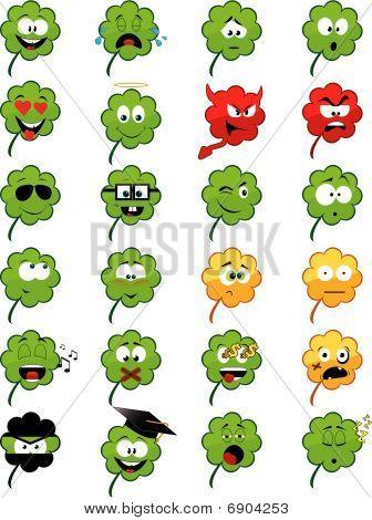 Clover-shaped emoticons