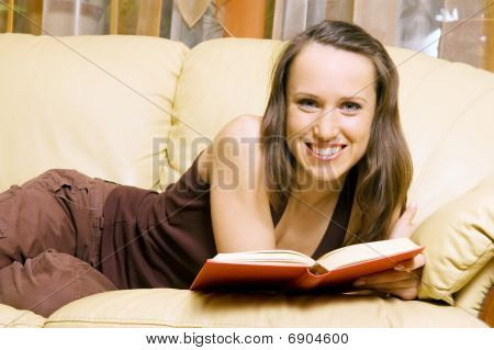 Smiley Woman With Book