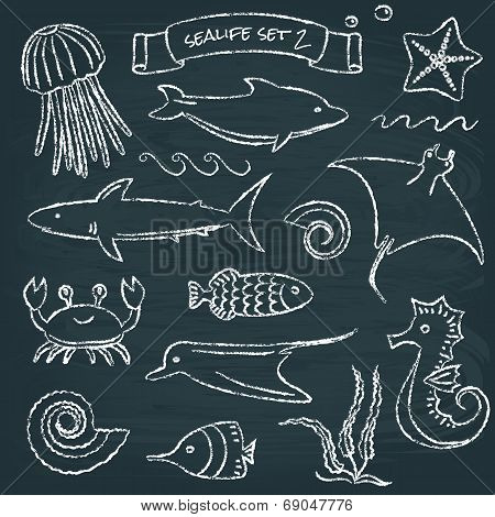 Sealife chalkboard set 2