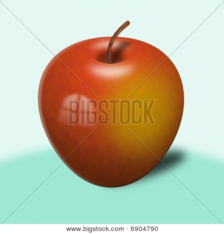 One Red Apple (fruit)