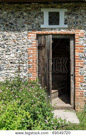 Entrance Door To Medieval 18Th Century Cottage