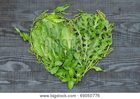 A Heart Of Different Green