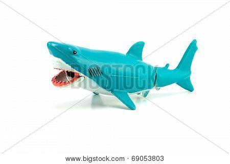 White Shark Toy Isolated On White