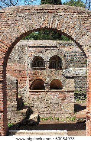 Necropolis in Ostia Antica