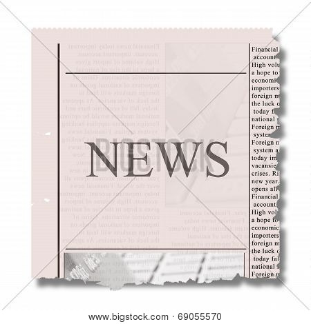 piece of newspaper
