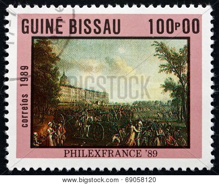 Postage Stamp Guinea-bissau 1989 Armed Mob, Painting