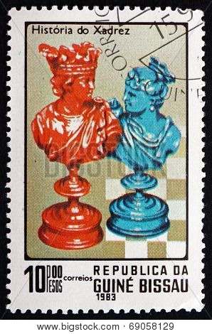 Postage Stamp Guinea-bissau 1983 King And Queen, Chess Pieces