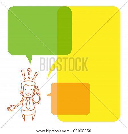 Vector illustration of a cartoon businessman