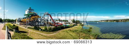 Panoramic view of Livu Aquapark