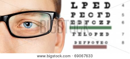 Male Eye And Eyesight Test