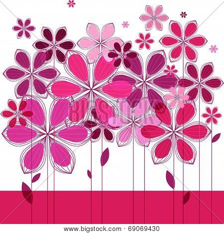 Greeting Card, Floral Composition
