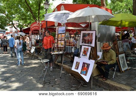 Artists Place du Tertre in Montmartre