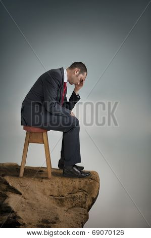 Depressed Businessman Suffering Depression