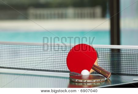 Table Tennis Rackets And Ball