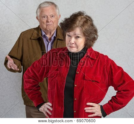 Bickering Senior Couple