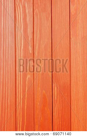 The Textured Wooden Surface Of Bright Red Color