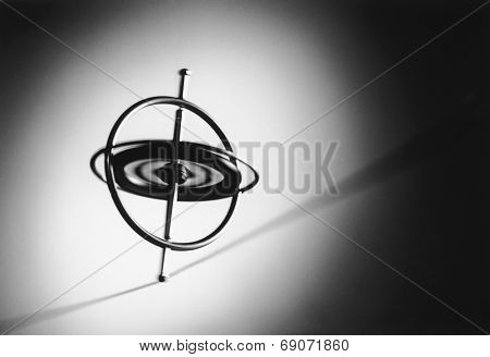 Spinning Gyroscope on Wire