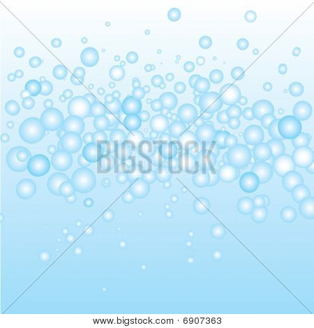 Blue Water Bubbles Background