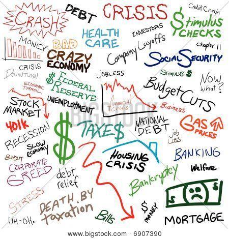 Economy Doodle Montage