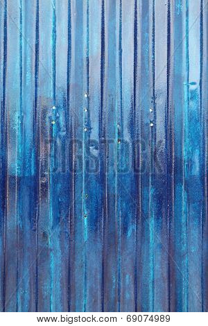 Blue Corrugated Panel