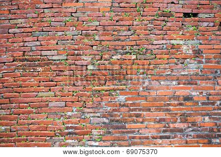 Old Red Brick Wall
