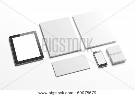 Blank Stationery Phone And Tablet Pc