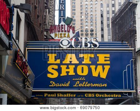 Theater Where The Late Show With David Letterman Is Filmed