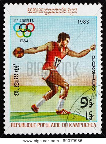 Postage Stamp Cambodia 1983 Discus Throw