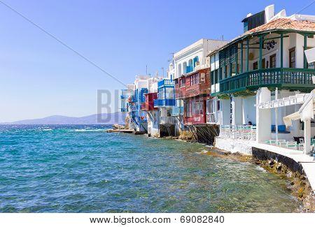 Little Venice In Mykonos,greece