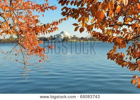 Washington DC, Thomas Jefferson Monument in Autumn