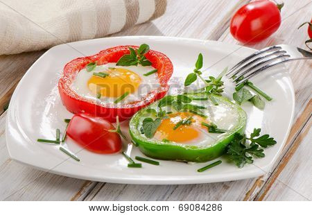 Fresh Vegetables And Eggs