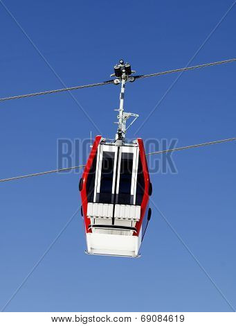 Gondola Lift And Blue Sky