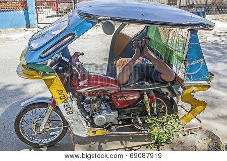 Filipino Trike Driver
