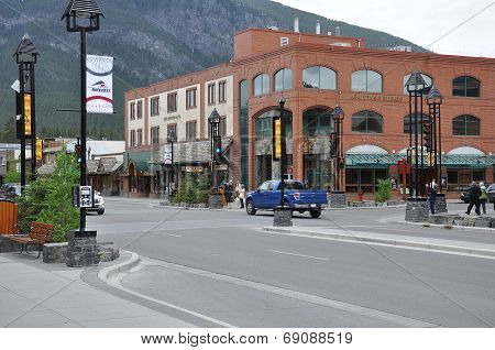 Central street of Banff.