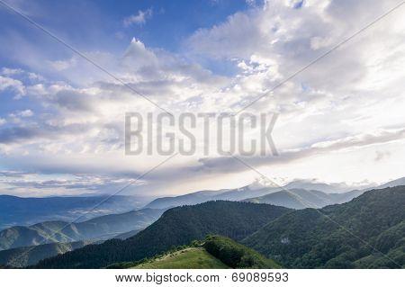 Mountain and blue sky panorama