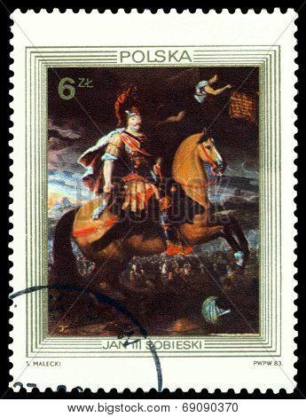 Vintage  Postage Stamp. King John Iii Sobieski.