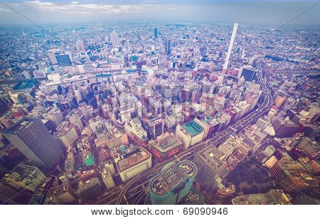 Aerial View Of A Bustling City