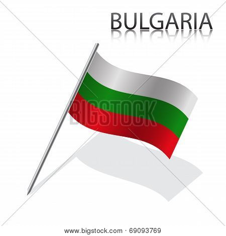 Realistic Bulgarian flag