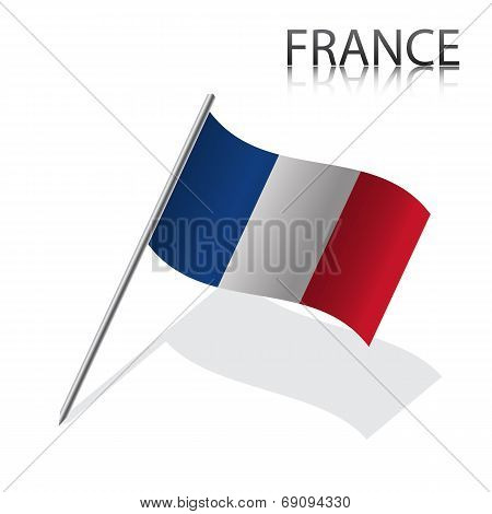Realistic French flag
