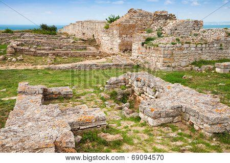 Ruins Of Ancient Fortress On Kaliakra Headland, Bulgarian Black Sea Coast